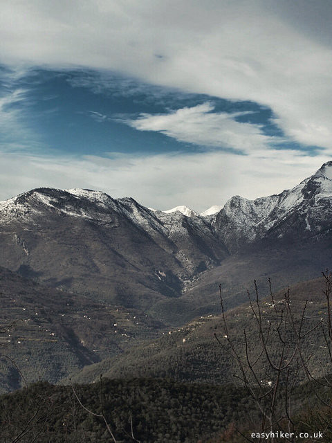 """""""springtime view from the top of the Ligurian Hills in Apricale"""""""