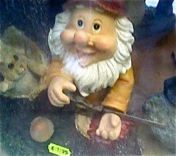 """Gnome cutting off his wrist found in our hiking story box"""