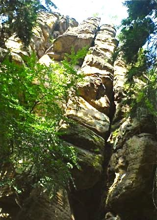 """Rock formations in the Malerweg hiking trail in Germany"""