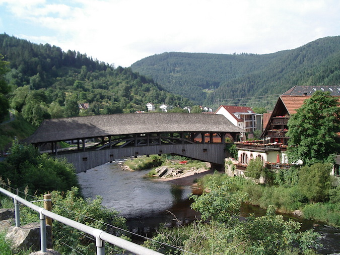 """Forbach along the hiking trail of the Blackforest Westweg """