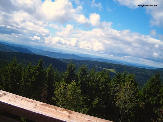 """The view from the top of the Thuringen Rennsteig oldest german hiking trail"""
