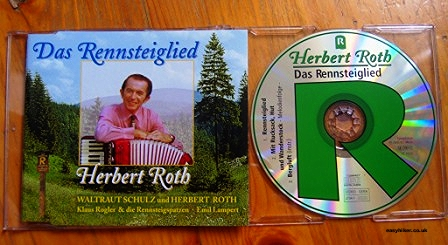 """CD with song to accompany your hiking in the Rennsteig- oldest German hiking trail"""