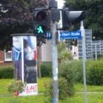 Traffic lights in former East Germany