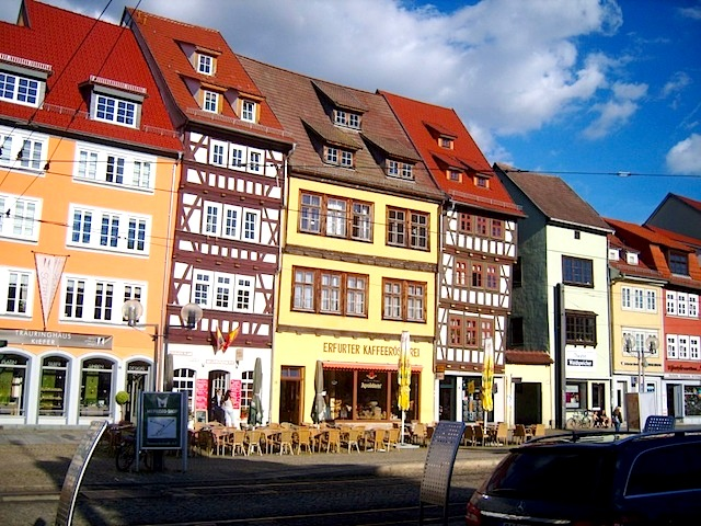 """Erfurt by the Dom, a town near the oldest hiking trail in Germany"""