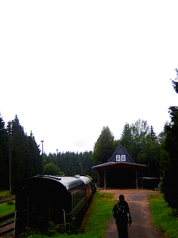 """Train tracks thru the oldest hiking trail in Rennsteig Germany"""