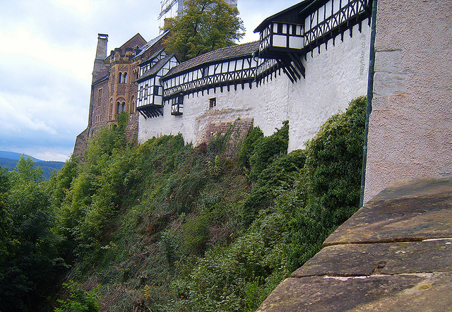 """Wartburg in Eisenach near the oldest hiking trail in Germany"""