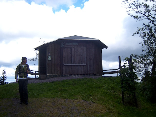 """A German Huette or trail hut during a hiking and holiday in Germany"""