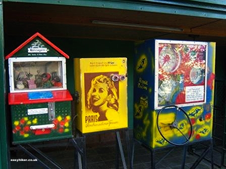 """Games machines at the end of the Siebengebirge hiking trail in Germany"""