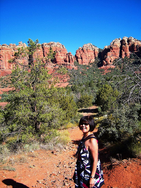 """Mrs. Easy Hiker in the Cow Pies trail in Sedona."""