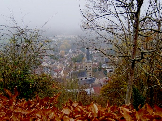 """View from top of hiking trail St Remy les Chevreuse near Paris"""