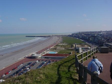 """by the beach in footsteps of Monet in Dieppe Normandy"""