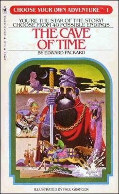 """Cave of time book cover"""