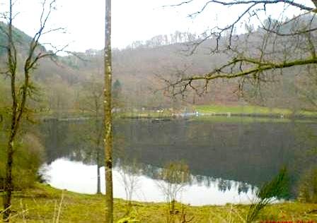"""""""the Maar on the eifel seen when hiking Eifelsteig trail in germany"""""""