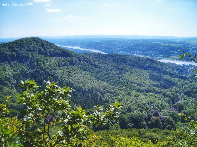 """Panoramic view from View from the Rheinsteig hiking trail in Germany"""