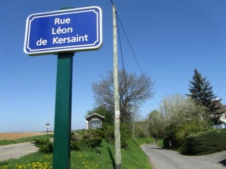 """""""Bus stop before start of Santeuil hiking trail near Paris"""""""