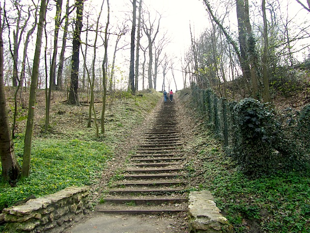 """Start of the hiking trail in Versailles stairway"""