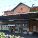 """Train station of the town of Niederdolendorf in Germany"""