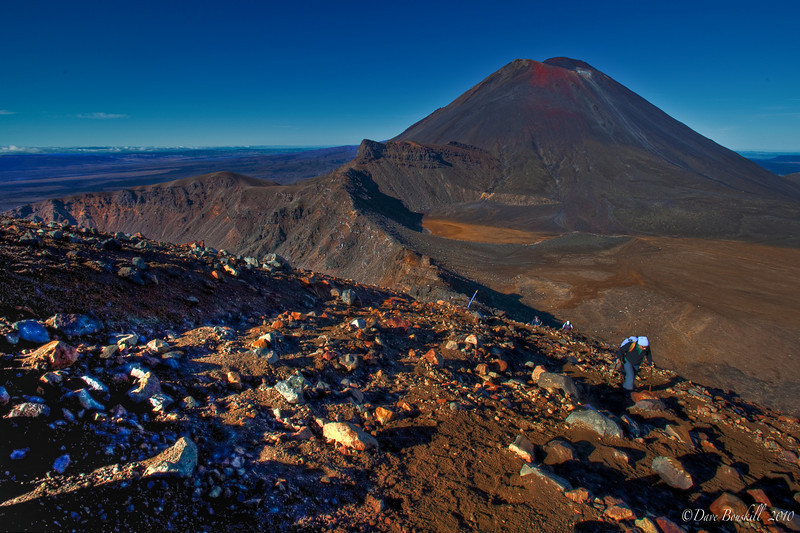 """Mount Ngauruhoe  along the Tongariro Crossing also known as mount-doom in Lord of the Rings"""