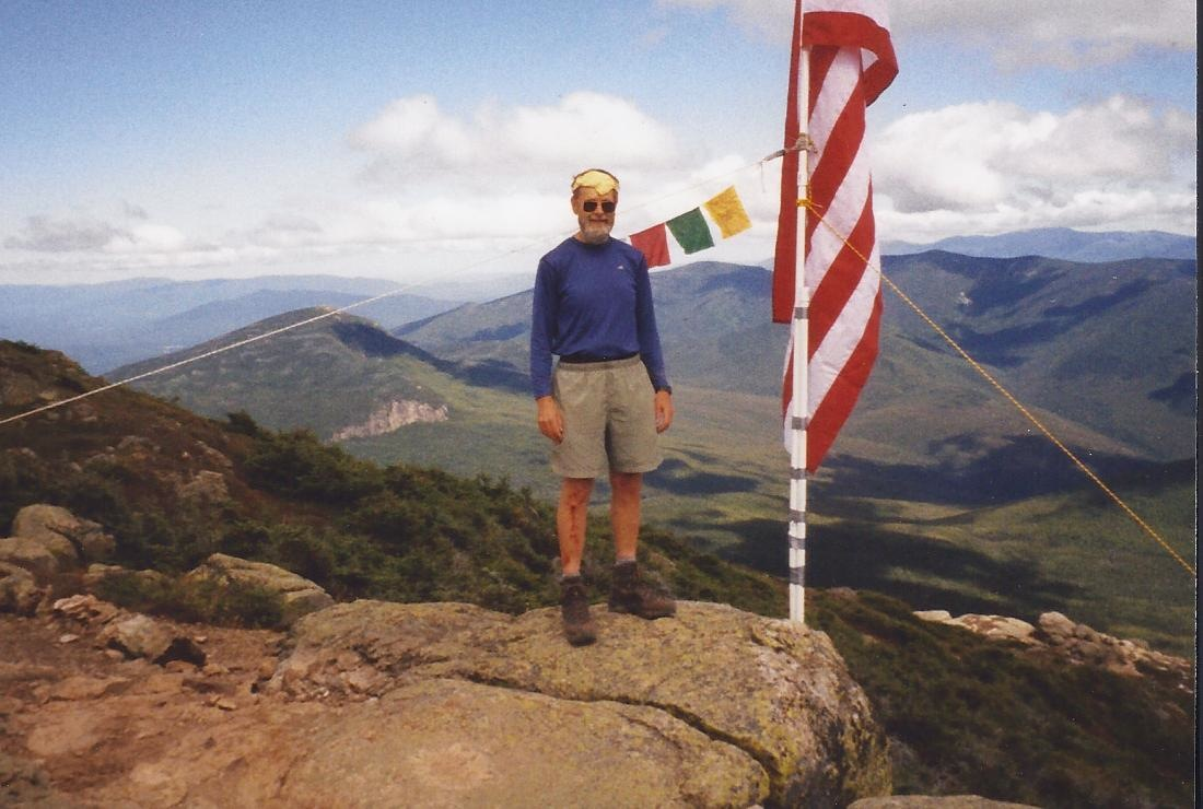 """American Flag seen on a Franconia Ridge hikei with Ray Anderson"""