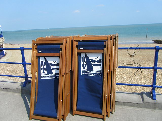 """Foldable chairs to use by the seaside in Eastbourne"""