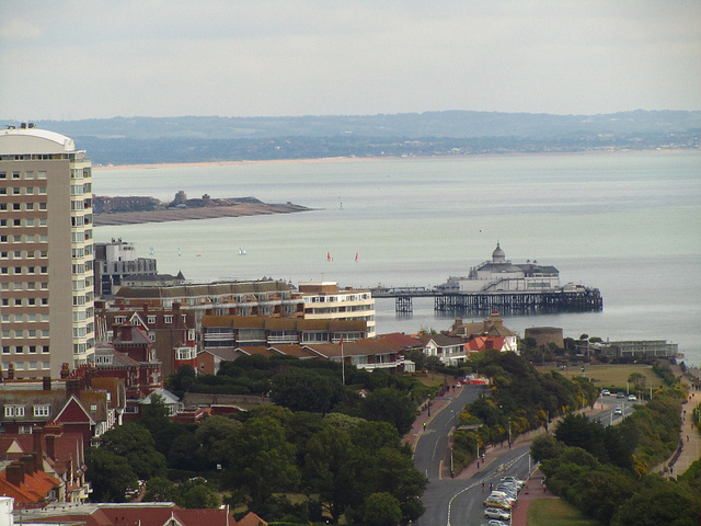 """Eastbourne pier seen from our seaside hiking near London"""