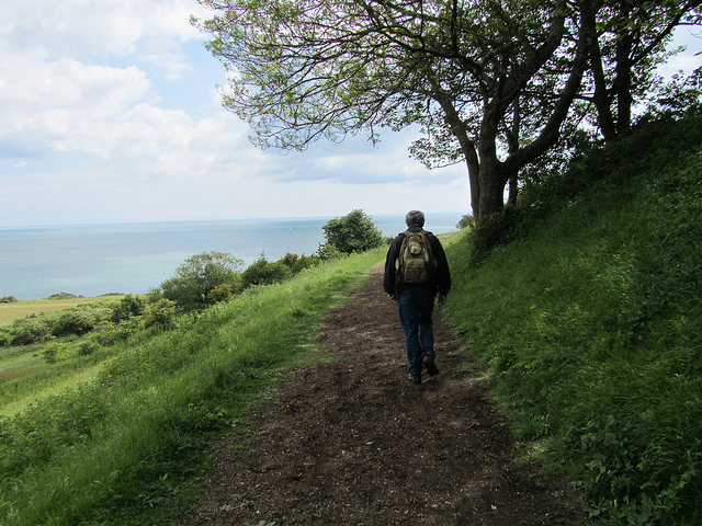 """Seaside easy hiking near London in Eastbourne"""