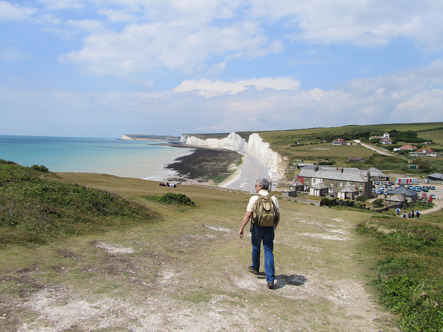 """Cliffside seaside hiking in Eastbourne"""