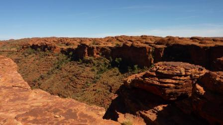 """The Kings Canyon rim in the Australian outbacks"""