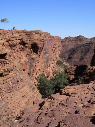 """The Canyon southwall in the Australian outbacks"""