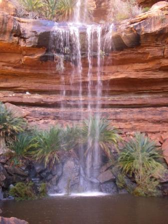 """Canyon waterfall in Kings Canyon rim in Australia"""
