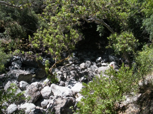 """Rocks along the creek on a trip for easy hiking in Little Yosemite"""