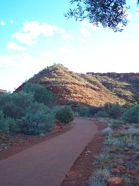 """The Kings canyon rim climb in the Australian outbacks"""