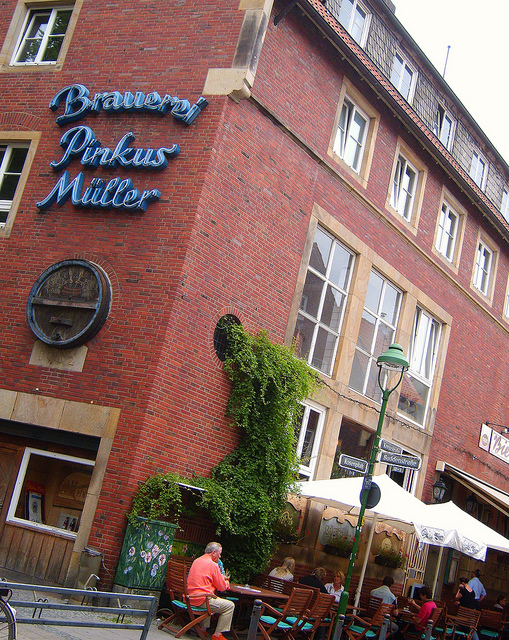 """Pinkus Brewery and bar in Muenster NRW"""