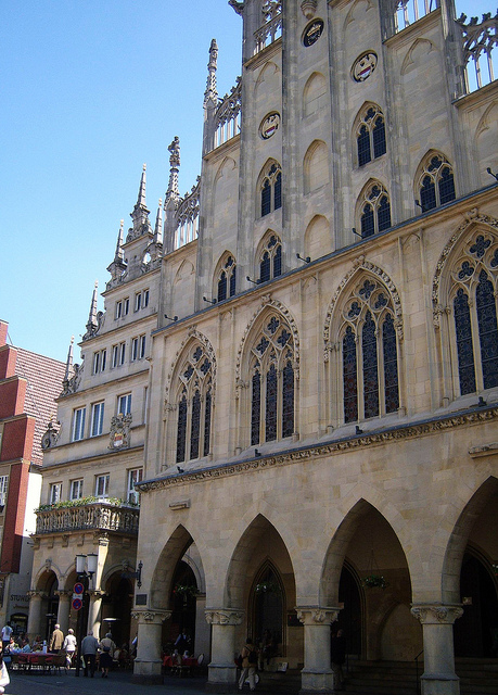"""The Friedenssaal or Historical City Hall of Muenster NRW"""