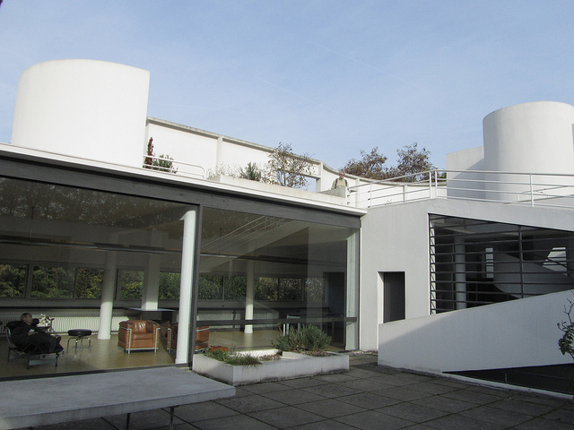 """The solarium of the white house Le Corbusier built in Poissy near Paris"""