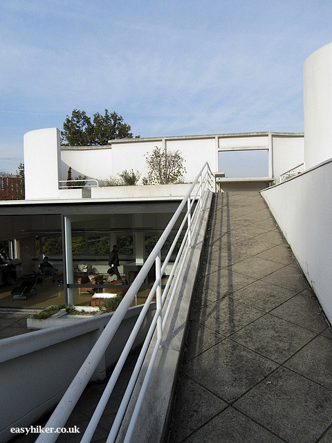 """Going up the roof garden of the white house Le Corbusier built"""