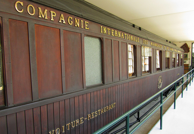 """The replica of the train wagon used by Hitler to humiliate France in 1940 now in Compiegne war museum"""