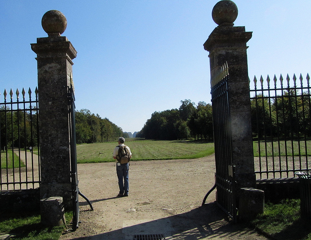 """Exit gate from the castle onto the Compiegne hiking trail near Paris"""
