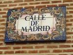 """Street sign Calle de Madrid"""