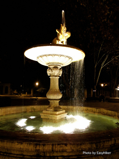 """One of the fountains in front of the Prado in Madrid"""