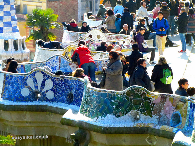 """This is not the weirdest thing about Parc Guell but it is looking like Disneyland"""