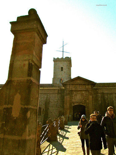 """The Castell on top of Barcelona Montjuic trail"""