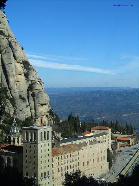 """The Monastery o n the Montserrat rocks near Barcelona"""