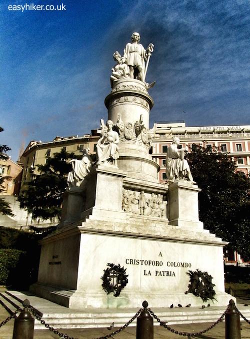"""Genoa - statue of Christopher Columbus"""