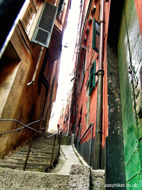 """Typical alley street in Genoa"""