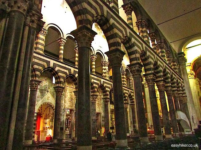"""Inside the Il Duomo (Cathedral) in Genoa"""