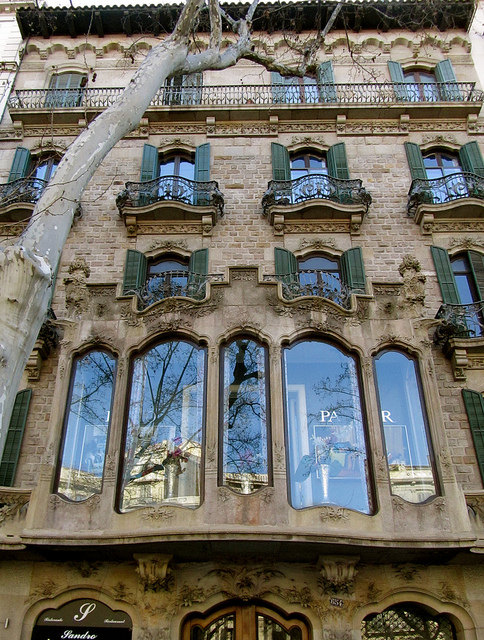 """""""Art nouveau building in Barcelona"""""""