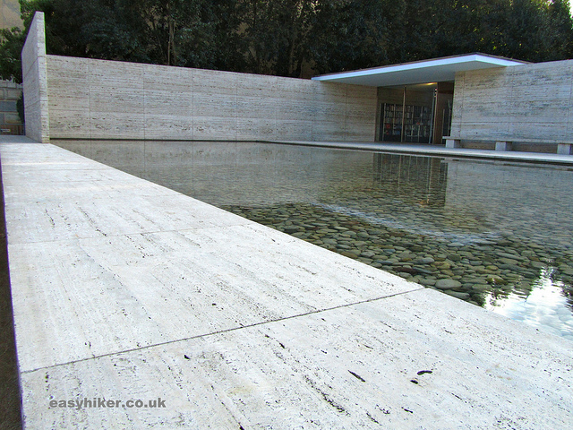 """Ludwig Mies van der Rohe's celebrated Barcelona Pavilion"""