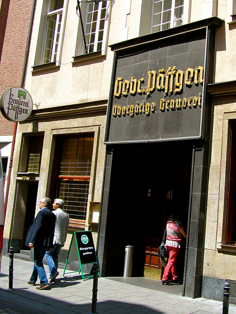 """Front of Päffgen Hausbrauerei in Cologne Germany"""