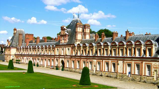 """The other side of the Chateau de Fontainebleau approached from the back"""